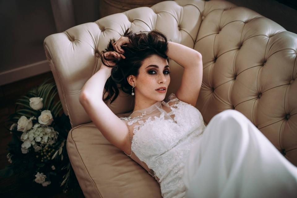 Sesión fotos resultado maquillaje de novia de la masterclass de Marcos Sixto